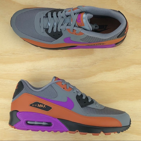 5204fa92a6 Nike Shoes | Air Max 90 Essential Grey Purple Sneakers Sz | Poshmark